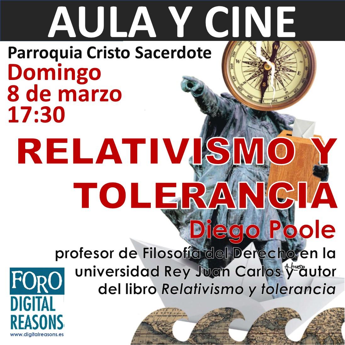AULA Y CINE 8-M: «Relativismo y tolerancia»