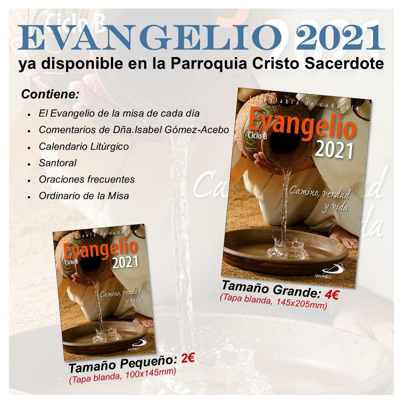 Disponible el «Evangelio 2021»