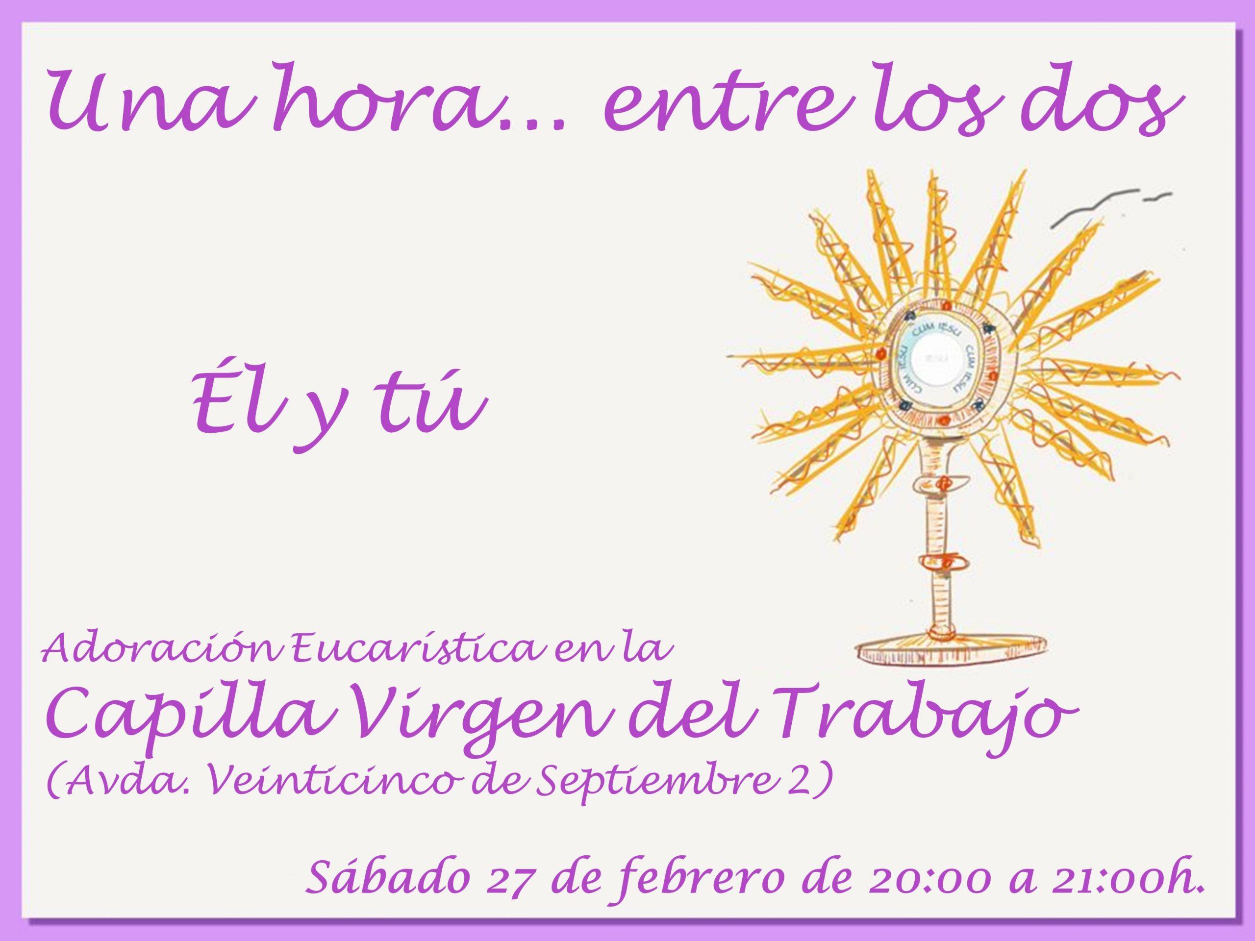 Este sábado: Adoración en Virgen del Trabajo