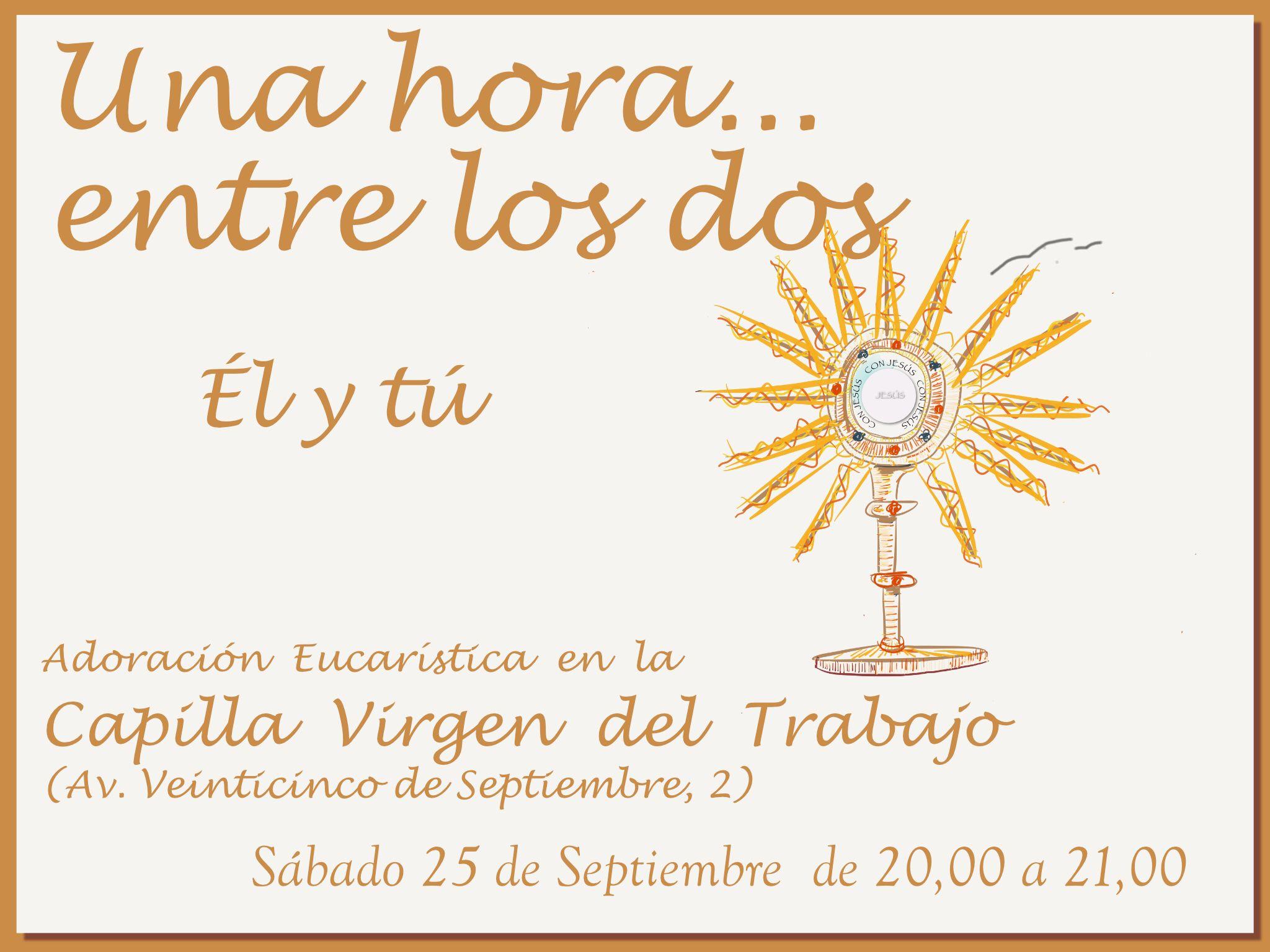 Este sábado hay Adoración en Virgen del Trabajo