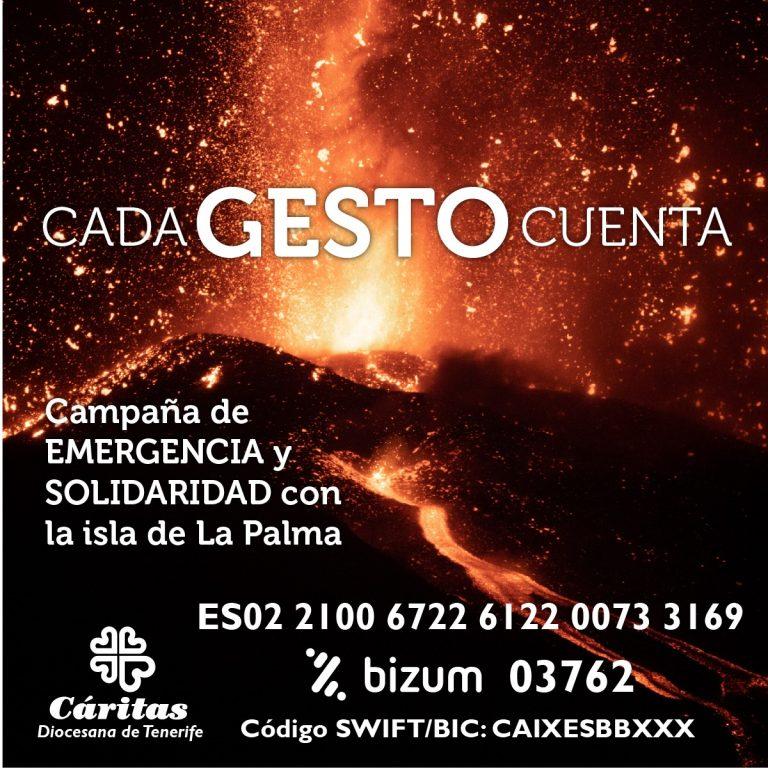Ayuda a Cáritas en la isla de La Palma